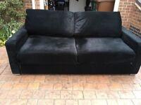Nabru 2 to 3 seater Sofa / Settee & Sofa Bed - Black