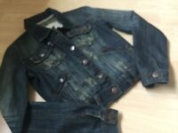 Republic Crafted Distressed biker style denim jacket for sale!