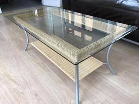 Glass coffee table bought from John Lewis