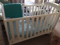 Good quality white wooden cot not a cheap one vgc smoke free home