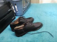 Black leather shoes by Clark's size 9