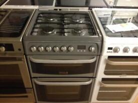 Silver 60cm gas cooker (fan oven)