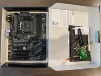 MSI B350 Pc Mate Motherboard For Gaming ATX Good Condition AMD Am4 socket