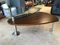 Unique Retro double layer swing out coffee table