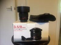 Samyang 3.5/8mm UMC Fish-eye CSII for Pentax
