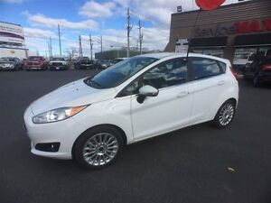 2015 FORD FIESTA TITANIUM- REAR VIEW CAMERA, HEATED LEATHER SEAT