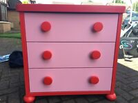 Kids bedroom furniture - wardrobe & drawers. In excellent condition. Ikea products.