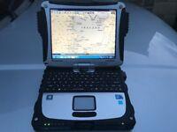 PANASONIC TOUGHBOOK CF-19 RUGGED CHARTPLOTTER 2017 EUROPE CHARTS GPS