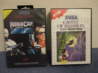 Sega master system games robocop vs terminator and castle of illusion starring mickey mouse