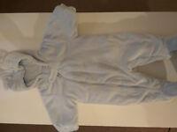Light blue baby snowsuit