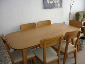 Vintage Style Dining Table with chairs and matching sideboard