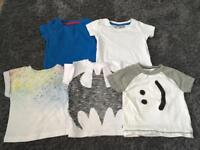 5 T-shirt's from Next/River Island. Size 3-6 months.