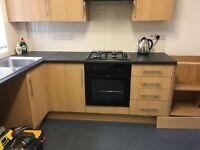 Howdens oak effect kitchen