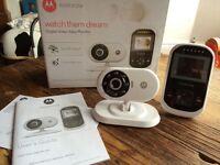 Motorola baby monitor, video monitor, as new with box and manual