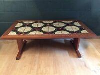 Large Retro Vintage Tiled Coffee Table