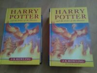 Harry potter first editions x 2