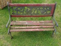 cast iron child's bench project