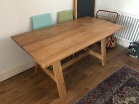 Habitat solid oak table