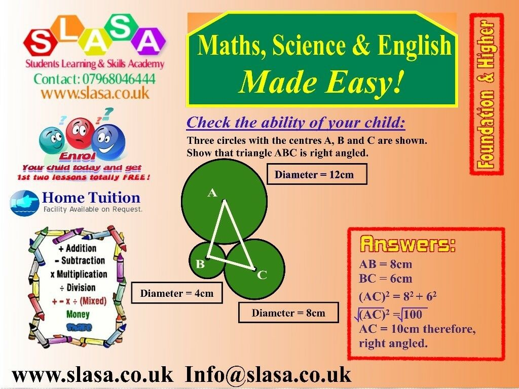 Tuition In Wollaton Excellent Tutoring In Maths Science English