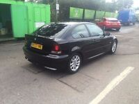 BMW 320td Compact Excellent condition, long Mot, Air Condition, Bluetooth, 50+mpg, 150BHP, two keys