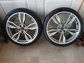Audi TTS 8S Genuine Alloys and tyres x 4
