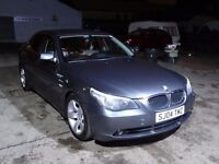 04 PLATE BMW 525 SPORT YEARS MOT FULL BLACK LEATHER SAT NAV NEW TYRES 144K SWAP P/X CASH EITHA WAY