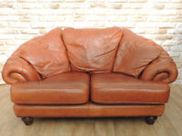 DFS Tan chesterfield sofa (Delivery possible)