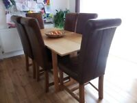 Folding Dining Table and 6x Chairs...