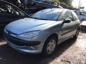 PEUGEOT 206 1.4 PETROL SILVER 2003 , BREAKING FOR SPARES, WHEEL NUT