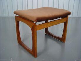 Vintage G Plan Quadrille Stool Retro Mid Century Furniture