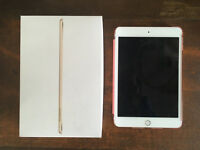"Gold iPad Mini 4 16GB 7.9"" Screen WiFi Enabled with Pink Case - Already engraved"