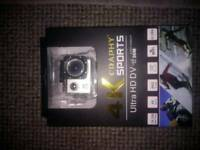 4k ultra HD WiFi action cam with all accessories brand new