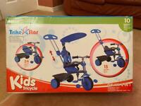 Brand New Still In Box Bentley Kid's 3 in 1 Trike With Canopy & Safety Guard (Blue)