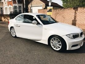 *STUNNING WHITE BMW 1 SERIES COUPE 120D MSPORT*