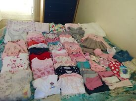 Huge Bundle of 0-3 and 3-6 Month Baby Girls Clothes Mostly New
