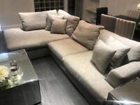 Next grey corner sofa and storage unit for sale