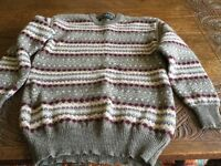 Mans Ricardo Jumper 100 Per Cent New Wool M Chest 95 cms