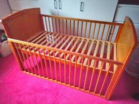 Wooden Cot Bed.