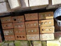 96 Tudor style bricks used and cleaned up. 25 pence each £24