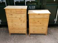 X2 pine chest of drawers can deliver