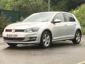 2015 (Mar 15) VOLKSWAGEN GOLF 2.0 MATCH TDi BMT - Hatch 5 Door - DIESEL - Manual - SILVER *£20 TAX*