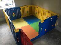 Childrens Playpen - Plastic Interlocking with Playmats