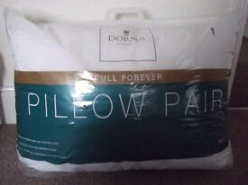 BRAND NEW PAIR OF PILLOWS(DORMA)