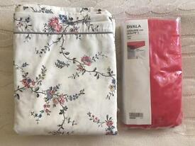 Luxurious IKEA Quilt cover and 4 pillowcases STENÖRT -brand new & double beedsheet