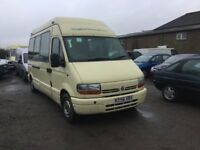 RENAULT MASTER LWBASE LUXURY MINIBUS IN SUPERB CONDITION DRIVES VERY NICE LUXURY WITH TV CURTAINS