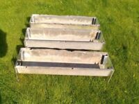 The Vintage Galvanised Garden Planters converted from old Feeding Trough 28 inches x 8 inches wide