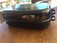 New enamel cooking casserole pot camping saucepan