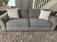 DFS grey settee