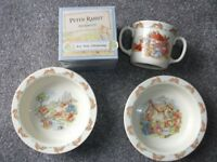 Peter Rabbit Bowls/2 and 1 Cup