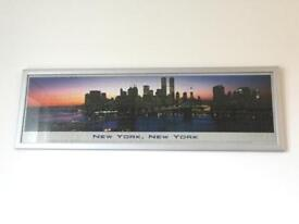 Framed jigsaw puzzle NYC twin towers skyline